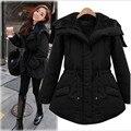 2016 New Women Winter Black Jacket Coats Thick Parkas Plus Size4XL Collar Hooded Outwear Hot Sale Warm Coat  A2473