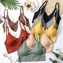Women Push Up Bra Fitness Tops Bralette Seamless Brassiere Female Tube Top Underwear Bralet