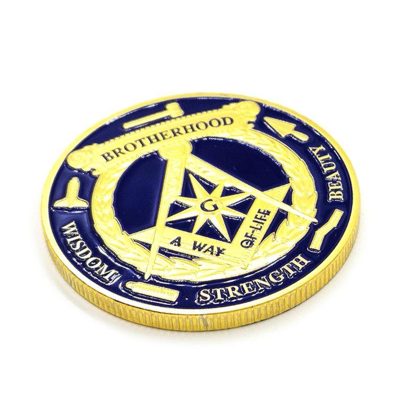 Глаз масонской памятной монеты позолоченный сувенир художественная коллекция