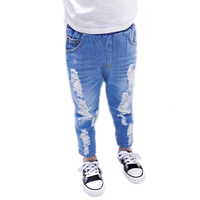 Kids Jeans Boys Girls 2018 New Summer Pants Clothing Children Fashion Jeans Hole Children's Jeans Ripped Kids Trouser 2 7T