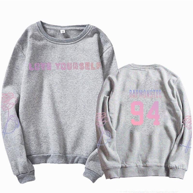 jungkook Unisex hoody kpop suga93 hoodies love KPOP weatshirt love yourself KPOP hoody sweatshirt  harajuku hoodies 33