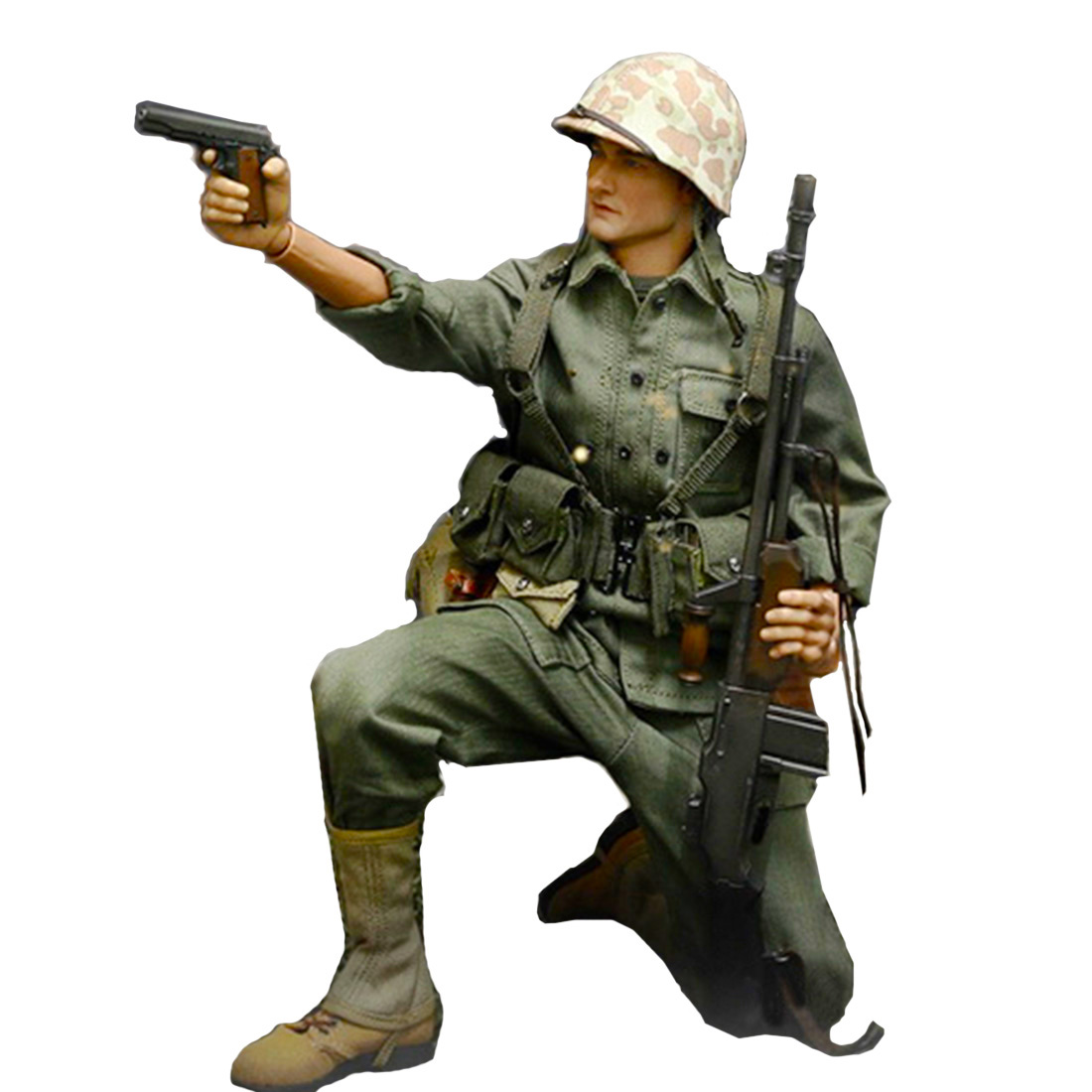 1//6th scale toy accessory 1 Alert Line German metal helmet with camo cover