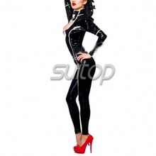 Suitop latex catsuit with gloves made to order is welcomed