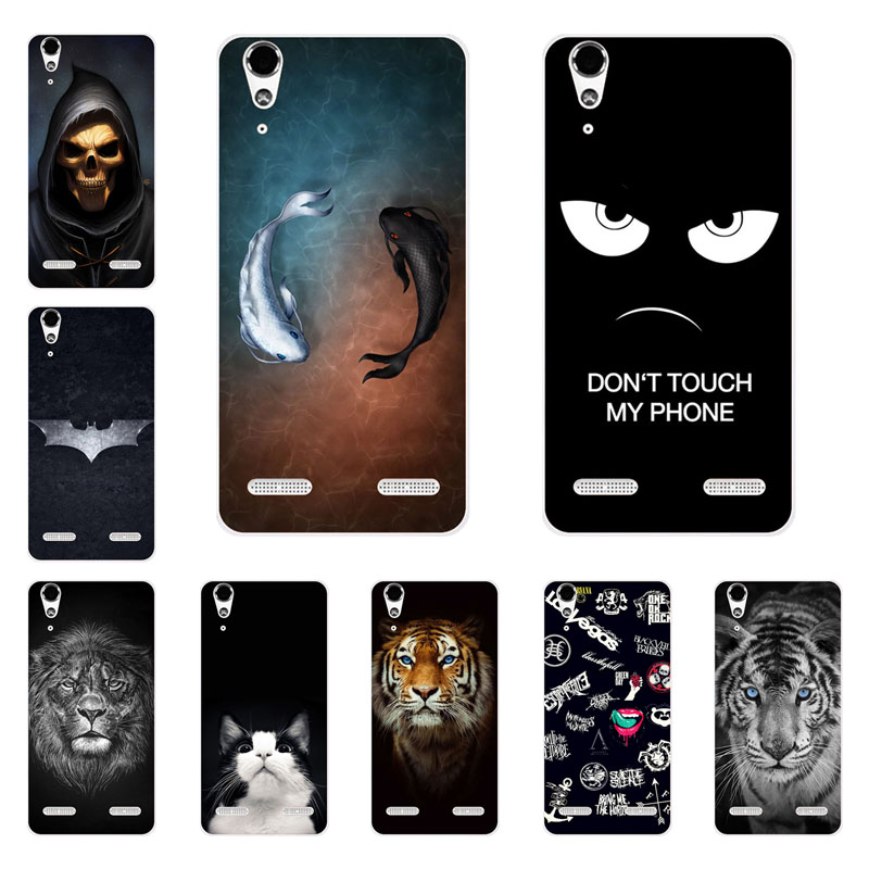 lenovo a6000 case,Silicon Gossip fish Painting Soft TPU Back Cover for lenovo vibe k3 a6010 protect Phone shell