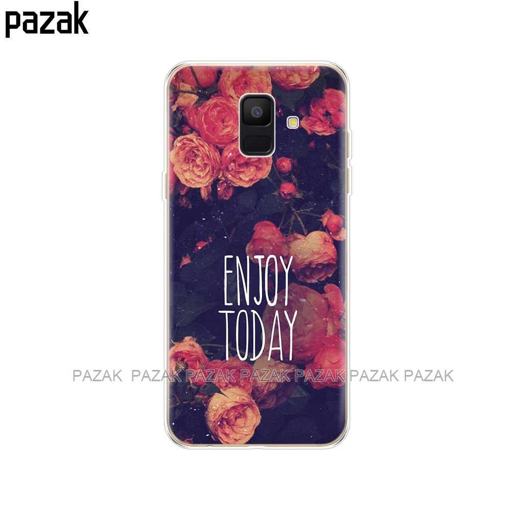 Caja del teléfono de silicona para Samsung Galaxy A6 2018 Dual SIM SM A600 A600F funda trasera suave TPU para Samsung A6 Plus 2018 A605 A605F pop