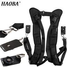 HAOBA Camera Shoulder Strap With Double Shoulder Strap Fast Loading Plate For Micro SLR  For Canon Sony  Cameras цена и фото