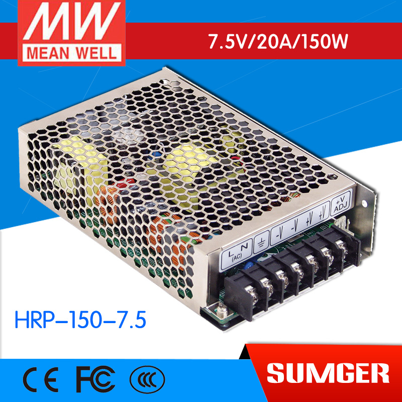 цена на [CB]MEAN WELL original HRP-150-7.5 3Pcs 7.5V 20A meanwell HRP-150 7.5V 150W Single Output with PFC Function  Power Supply