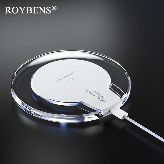 Roybensチーワイヤレス充電器ミニ充電パッド高速充電器ドック用アップルiphoneのx 10 8/8プラス三星銀河s8プラス注8