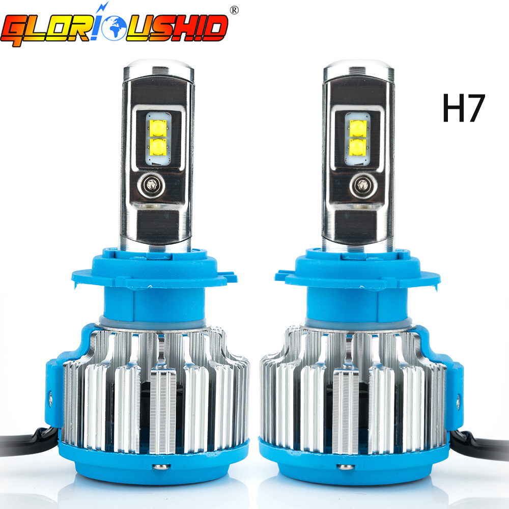 One Set Car Headlight H7 Led High Power 70W 7000lm 6000k White LED Headlamp Bulb Replacement Fog Light