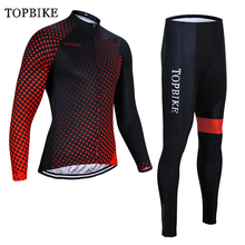 TOPBIKE Men cycling jersey 2018 pro team bike winter thermal fleece long sleeve set ropa ciclismo bicycle triathlon equipment santic winter fleece thermal cycling jacket men road mountain bike jacket windproof bicycle wind coat chaqueta ropa ciclismo