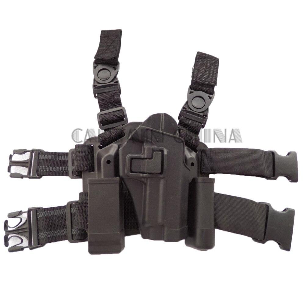 BLACK Tactical Duty Drop Leg Thigh Gun Holster for SIG SAUER P226 P228 P229