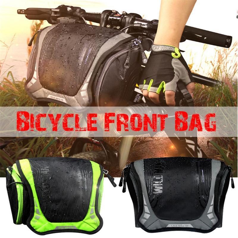 Waterproof Capacity Bicycle Bag Front Tube Frame Bag Bike Handlebar Basket MTB Pannier Cycling Camera Shoulder Bag