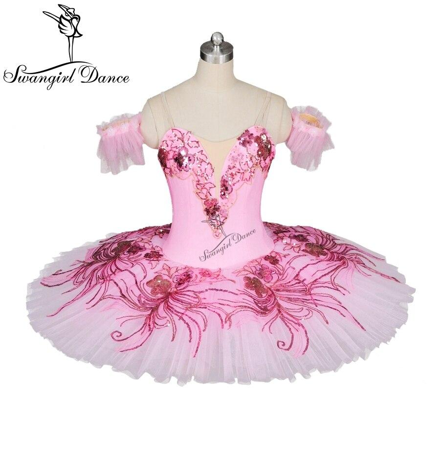 11bfcaa04a18 Pas cher Ballet professionnel pêche rose tutus femmes classique ballet tutu  adulte plateau performance tutu crêpe