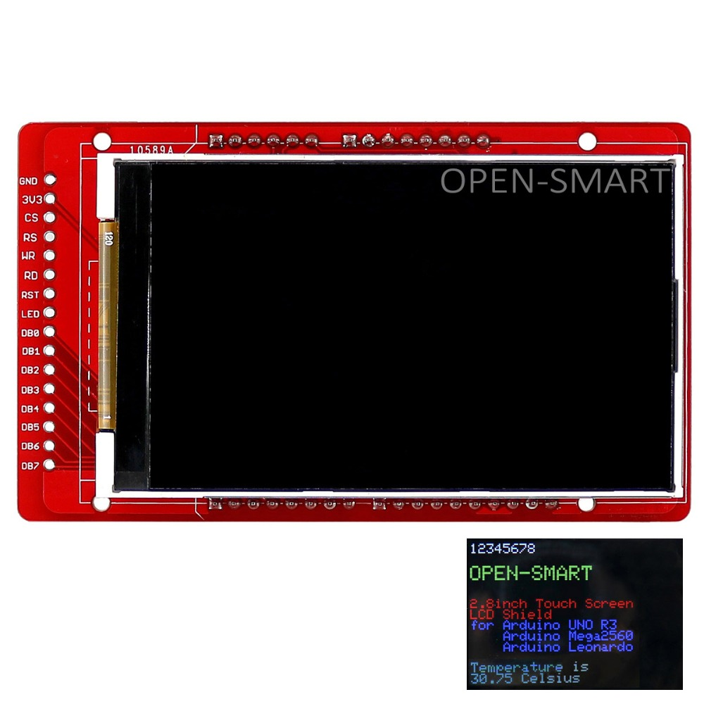 Open Smart 30 Inch Tft Lcd Display Shield With Temperature Sensor Lm75 Schematic Onboard For Arduino Mega2560 Leonardo Free Shipping Worldwide