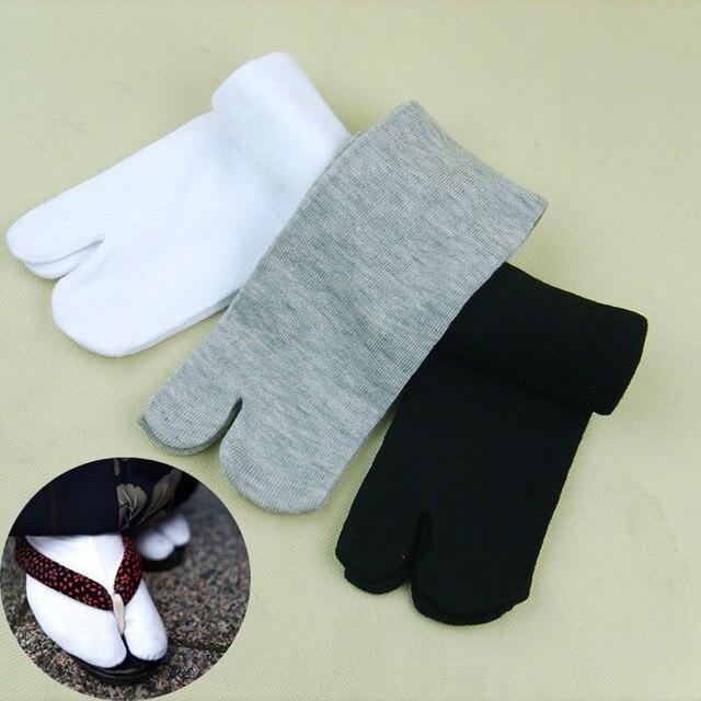 1 pares Nova Unisex Algodão Meias Ninja Japonês Kimono Estilo Flip Flop Chinelo Sandália Divisão 2 Tabi Dedo Do Pé Dedo Do Pé para Mulheres Dos Homens