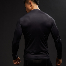 Punisher 3D Printed Men Compression Crossfit T-shirts Long Sleeve