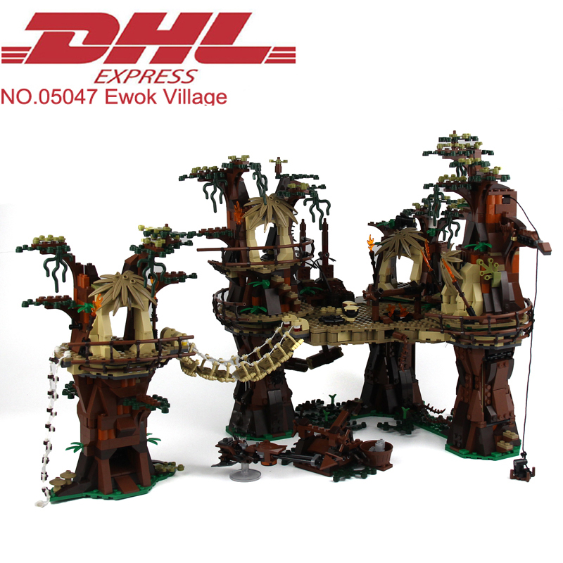 2018 New 1990Pcs Star Wars Figures The Ewok Village Model Building Kit Blocks Bricks Toy For Children Gift Compatible With 10236 2017 new 3803pcs star wars death star model building kits figures blocks bricks educational children toy gift compatible 10188