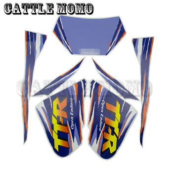 Brand New Motorcycle Complete Graphic Kit Dirt Bike Sticker Decal For TTR250 Motorcycle&Motorbike Fuel Tank Decals Stickers