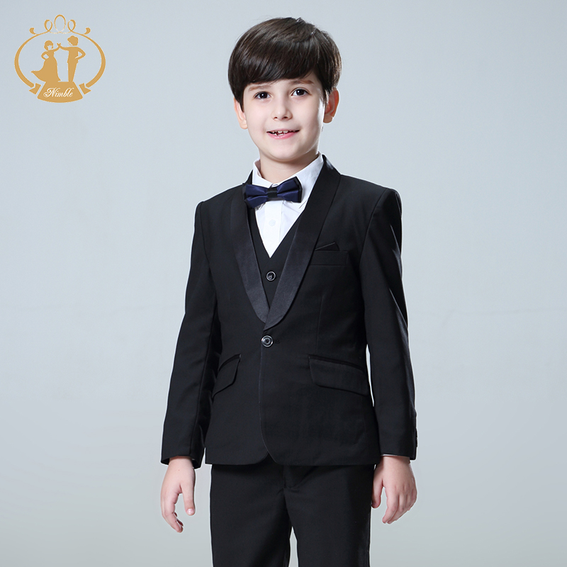 5pcs/Set Suit for Boy Kids Prom Suits Wedding Suits Kids Blazers Boys Clothing Set Roupas Infantis Menino Boys Suits for Wedding купить в Москве 2019