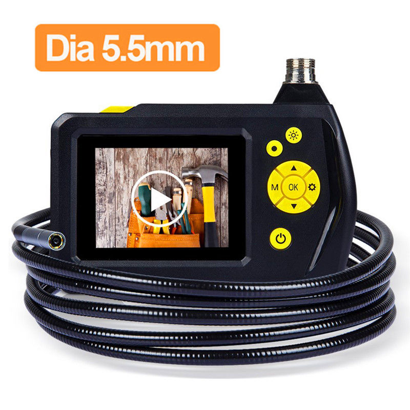 Blueskysea NTS100R Endoscope 5.5mm Borescope 2.7 Color LCD Screen DVR Snake Inspection Tube Camera 1 Meter/3 Meters Cable