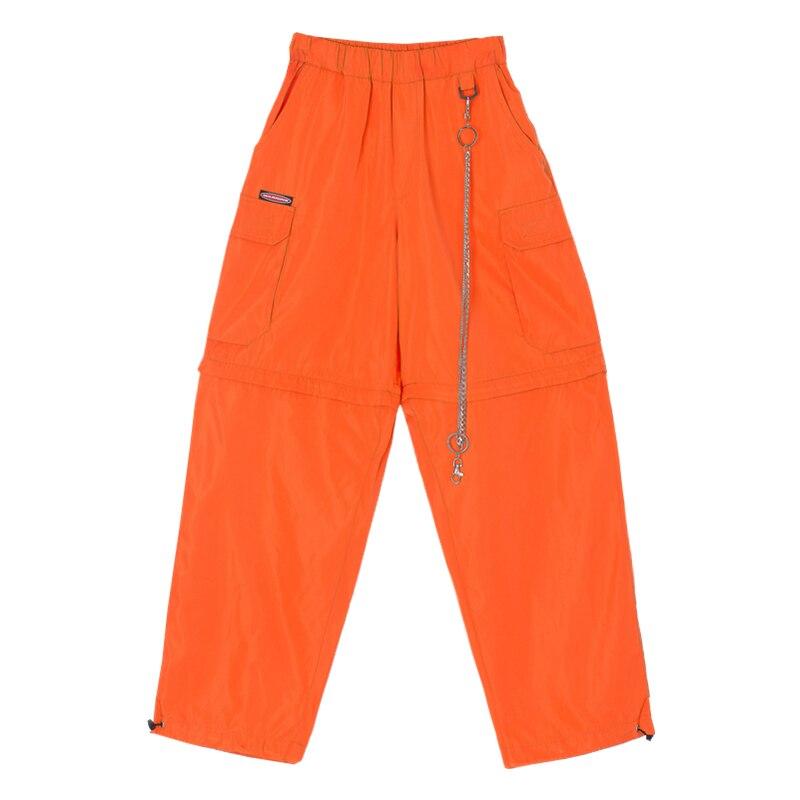 Pantalon Noir Rue Montage Éclair Pantalons En Lâche Automne Punk Style Métal Large Salopette Vent Bas orange Décontractés Fermeture Nouveau 2019 kaki UwYxUq