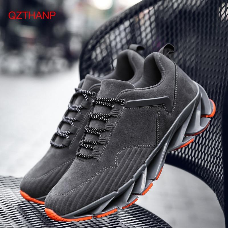 db171c1d5 Новые 2018 весенние модные повседневные мужские ботинки замшевая обувь  мужские кроссовки 9908 обувь blade дышащие кроссовки