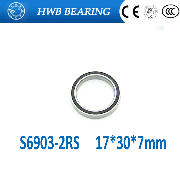 Free Shipping S6903-2RS S6903RS 17*30*7mm Hub stainless steel si3n4 hybrid ceramic bearing SC6903-2rs 17x30x7mm for bicycle part 15267 2rs 15 26 7mm 15267rs si3n4 hybrid ceramic wheel hub bearing