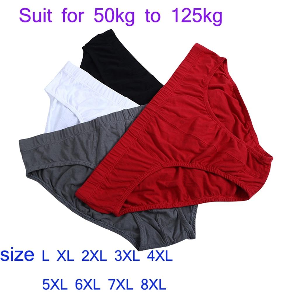 Men Brief Slips Briefs Pants Cotton Classic Big Sizes 2XL 3XL 4XL 5XL