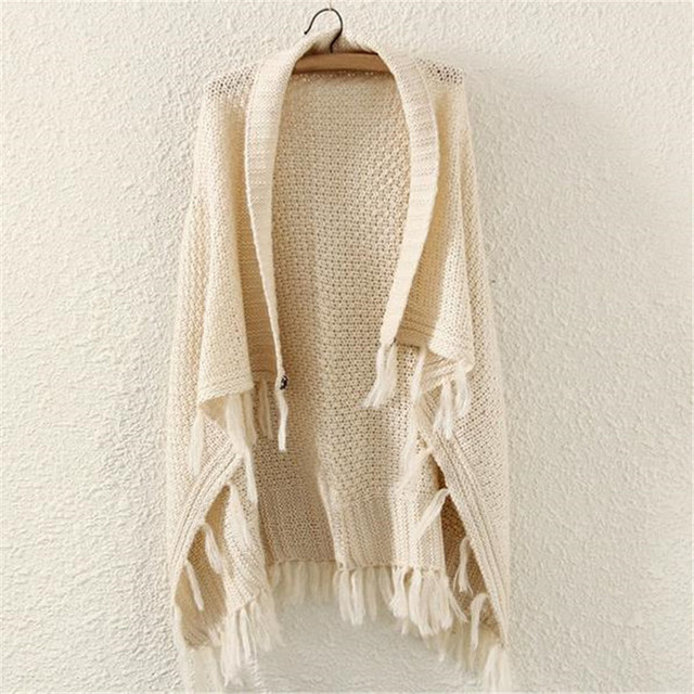 Bat wing Solid Fringed Poncho | Ponchos and Capes