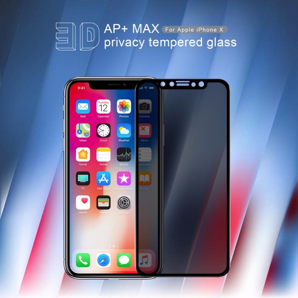 Nillkin Anti Spy Kaca Tempered untuk iPhone 11 Pro Max X XR XS MAX - Aksesori dan suku cadang ponsel - Foto 2