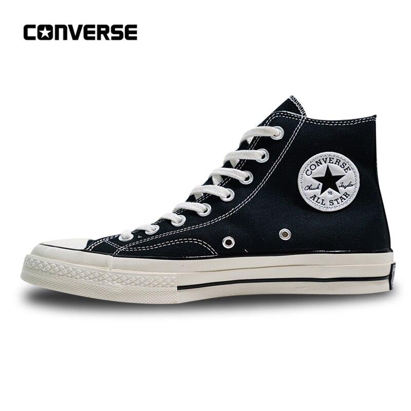 Converse All Star baskets homme et femme skateboard toile Shoes1970s haut classique 162050C noir 35-44