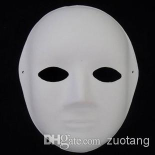 cheap paper pulp blank party masquerade masks for women men white