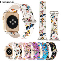 HIPERDEAL Replacement 42MM Cartoon Parttern Printing Leather Watch 160-225MM Strap Bracelet Waist For Apple Watch Series OC9B