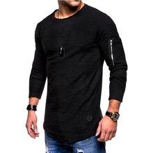 Men Long Sleeve Street Casual T-Shirt