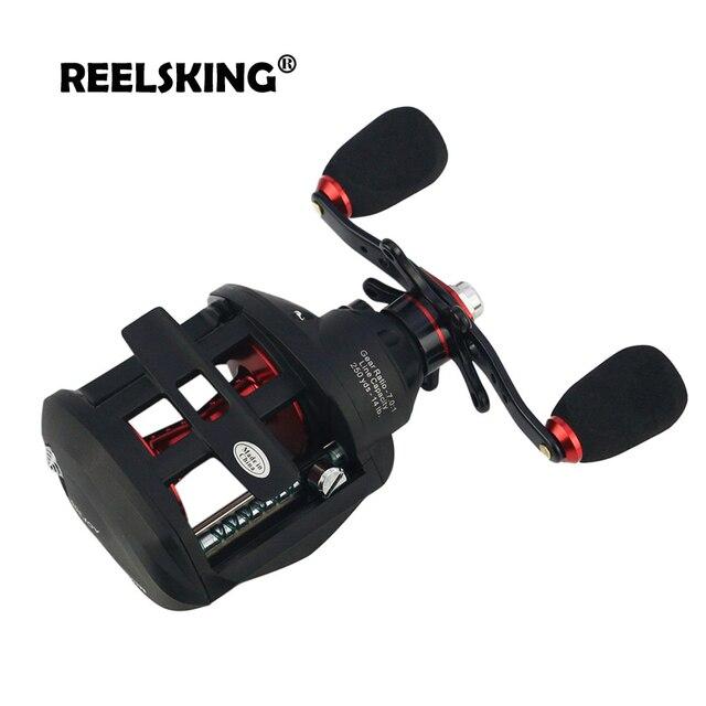 REELSKING 12 + 1BB 7.0: 1 moulinet Baitcast haute vitesse 7kg MAX glisser droite ou gauche moulinet centrifuge frein moulinet de pêche