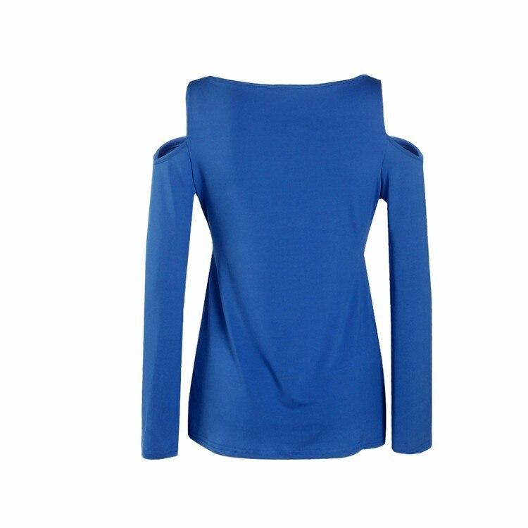 HTB1tW54PpXXXXa.XpXXq6xXFXXXN - Women Spring Long Sleeve Off Shoulder V-neck T Shirt