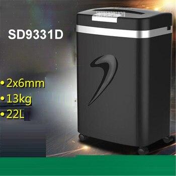 1 unidad SD9331D trituradora eléctrica sección Oficina personal home office 22L trituradoras cuasigranular mute más seguro ancho de papel 220mm