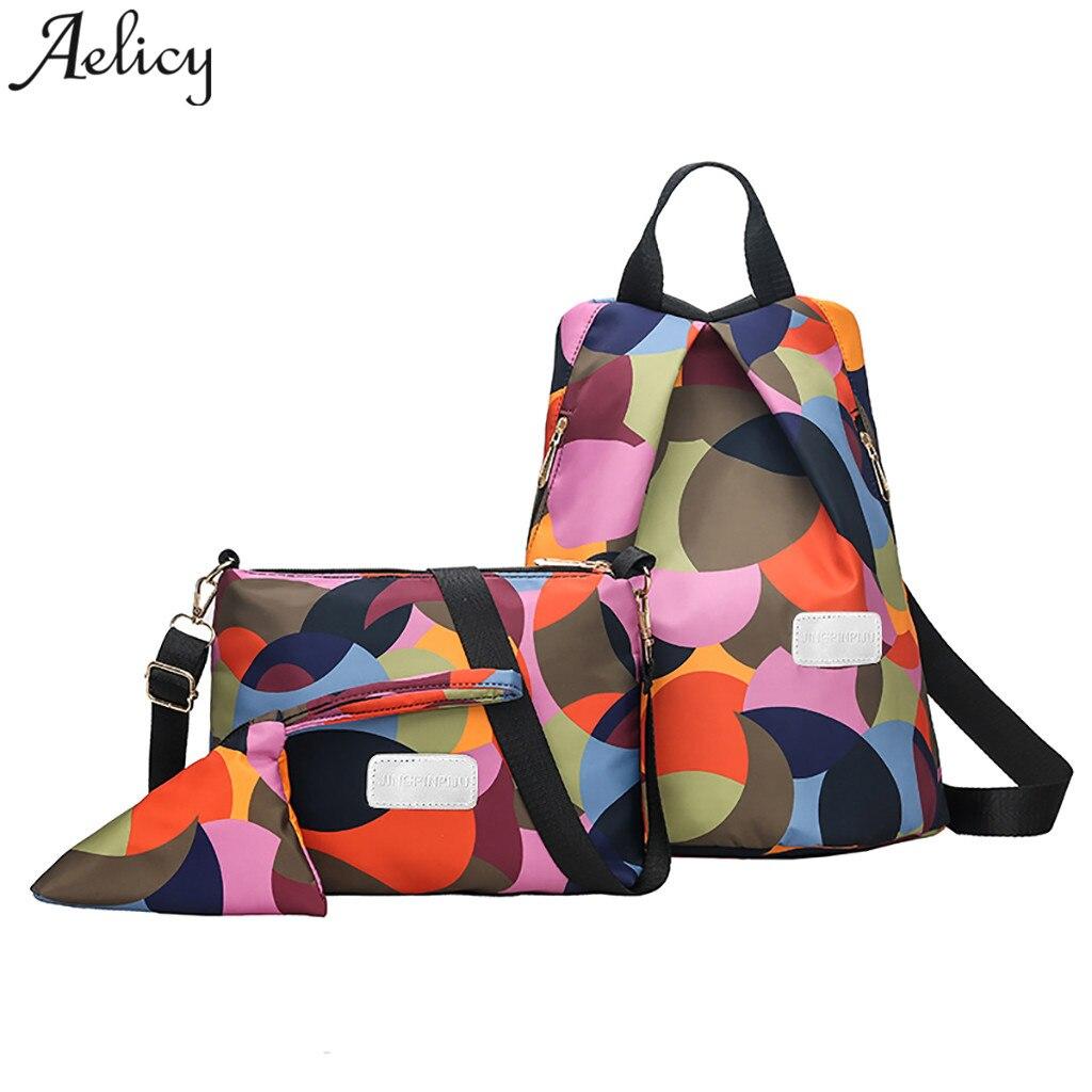 Aelicy backpack women @ Color Matching Wild Backpack Leisure Travel girls School Bag +Crossbody Bag+Clutch bag mochila feminina Aelicy backpack women @ Color Matching Wild Backpack Leisure Travel girls School Bag +Crossbody Bag+Clutch bag mochila feminina