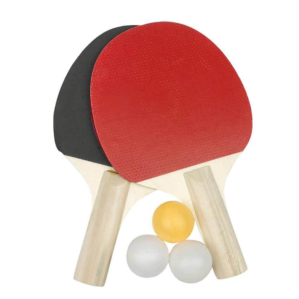 2PCS Table Tennis Rackets With 3pcs Ping Pong Balls Lightweight Powerful Ping Pong Paddle Bat Table Tennis Bats Pimples Out