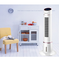 FKL TS01 Air Conditioning Fan Tower Fan Household Office Dormitory Silent Vertical Movable Humidifying Refrigerator White