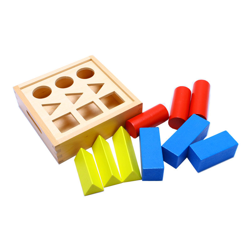 Wooden Montessori Toys Baby Geometry Small Ladder ...