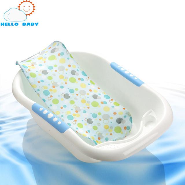1 pcs banho Do Bebê net Banheira Assento Apoio terno fot 0-8 meses De Ferro De Segurança de Segurança de poliéster azul amarelo