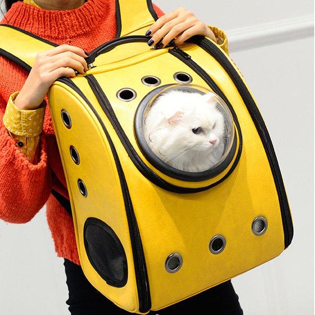 E Cabin Pet Carrier Breathable Cat Backpack Dog Outdoor Portable Package Bag