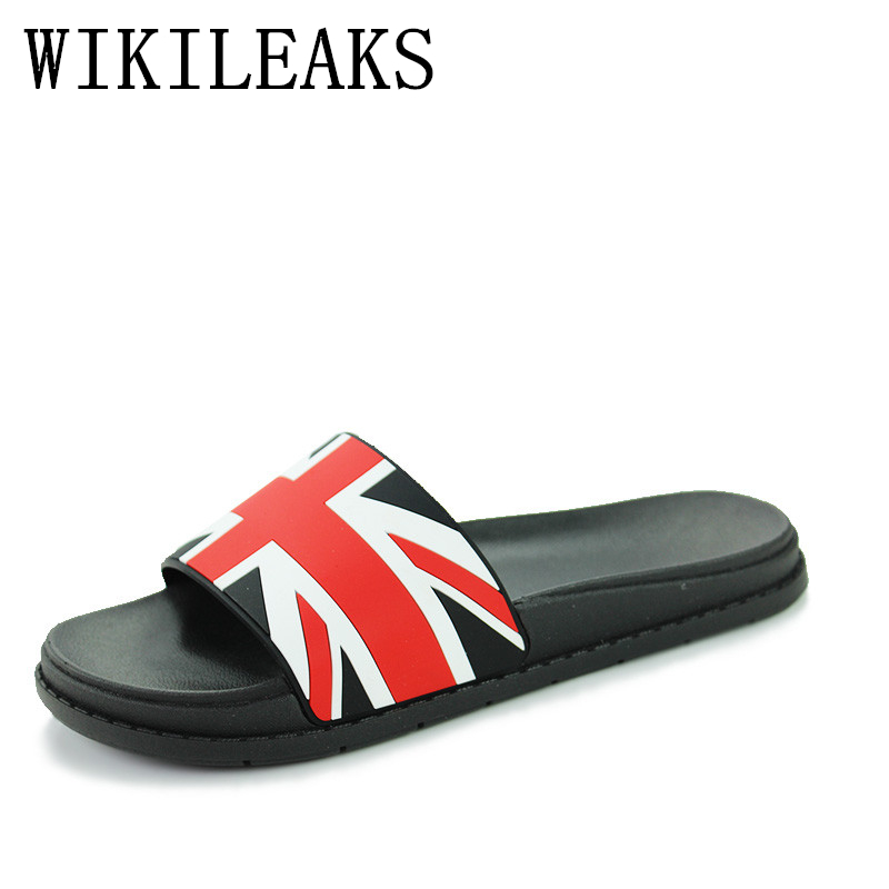 summer beach slippers men shoes zapatos hombre pantufas de pelucia brand Union Jack sandals men fashion designer Slides ciabatte