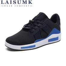 2019 LAISUMK New Arrival Outdoor Men Casual Shoes Lightweight comfot Lace-up Sneakers