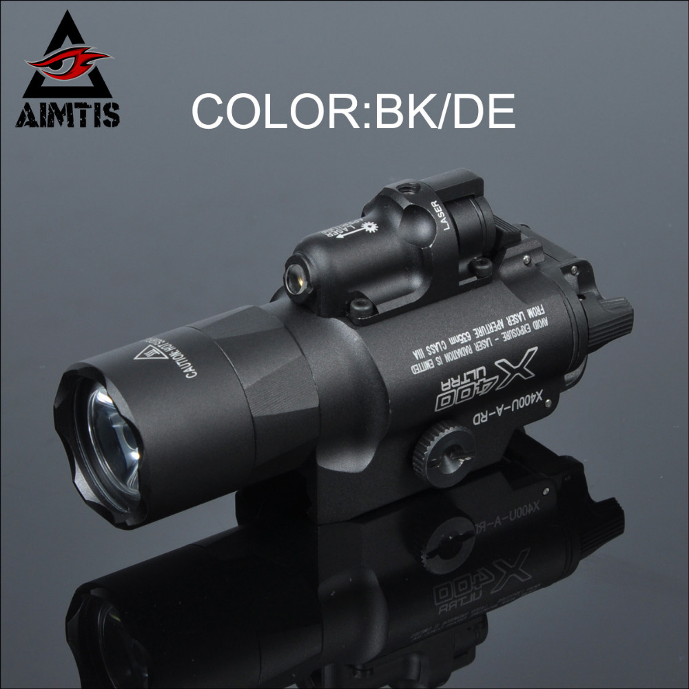 AIMTIS SF X400 X400U Ultra Night Evolution Pistol Light with Red Laser Tactical Weapon Flashlight Fit 20mm Picatinny/Weaver Rail laser head 440 bdp4110 sf bd414