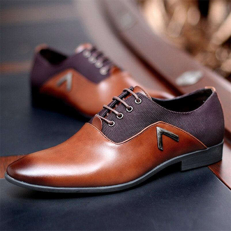 Caballero Oxford hombres zapatos de cuero verano Hombre planos Bullock Zapatillas Hombre vestido negro marrón tamaño 35-47 chaussure homme