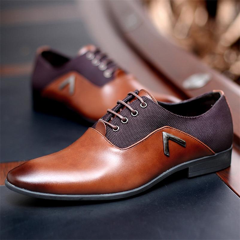 Caballero de Oxford zapatos de cuero de los hombres zapatos de verano Hombre pisos Bullock Zapatillas Hombre vestido de negro, marrón tamaño 35-47 chaussure homme