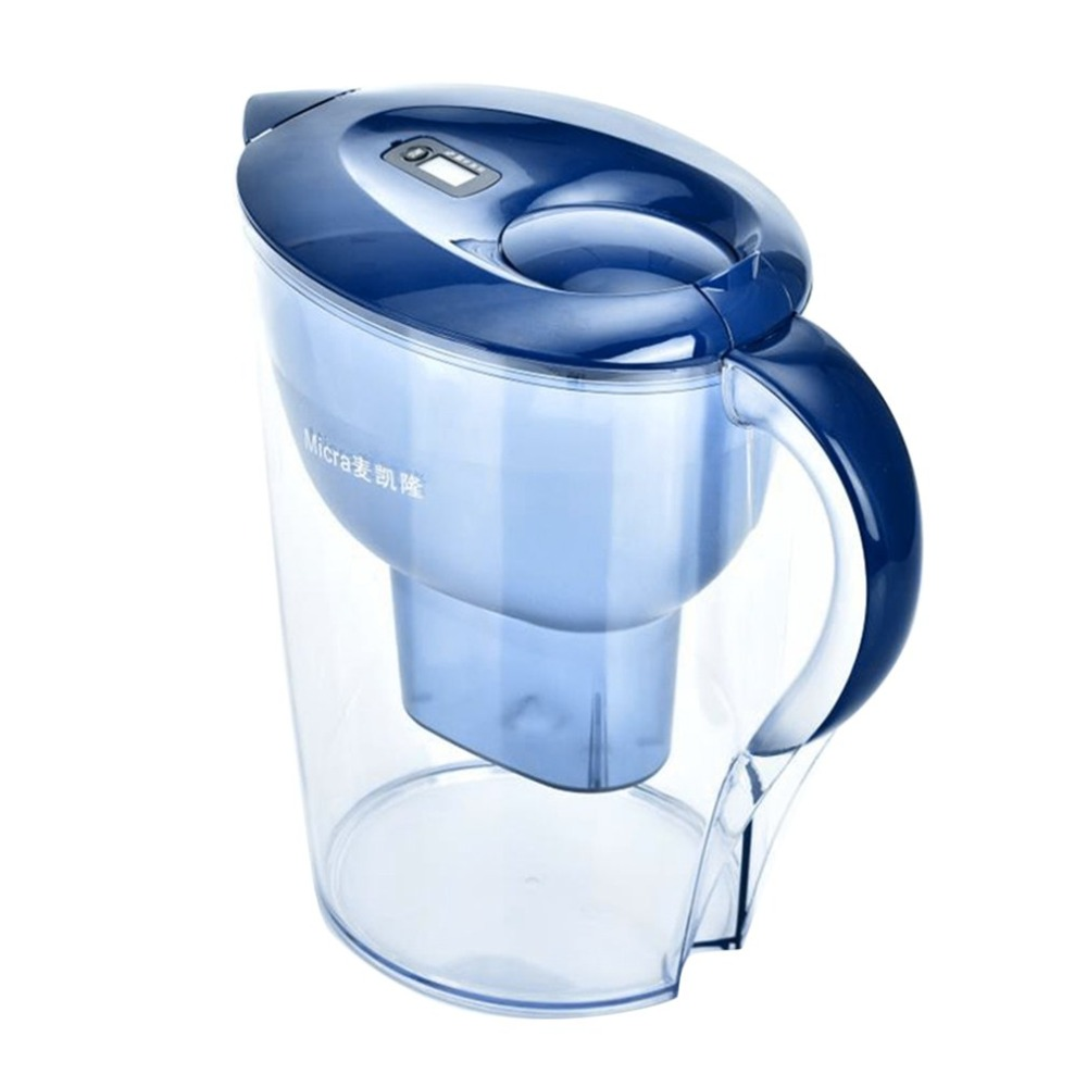 3.5L Large Size Household Use Water Kettle Water Purification Jug Water Filters Purifier Healthy Water Pot Kettle Home Office dmwd 2 5l 4 layers home water purifier water filter kettle healthy drinking water maker filter jug with 2pcs core