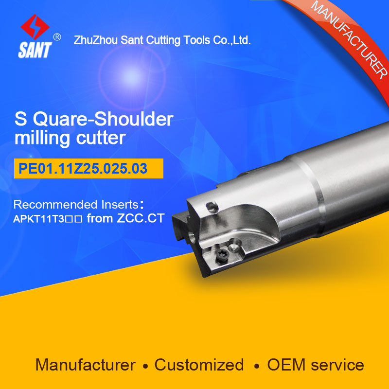 S-shoulder milling cutter Indexable insert APKT11T3 From ZCC.CT disc PE01.11Z25.025.03/EMP01-025-G25-AP11-03 hot selling Abroad